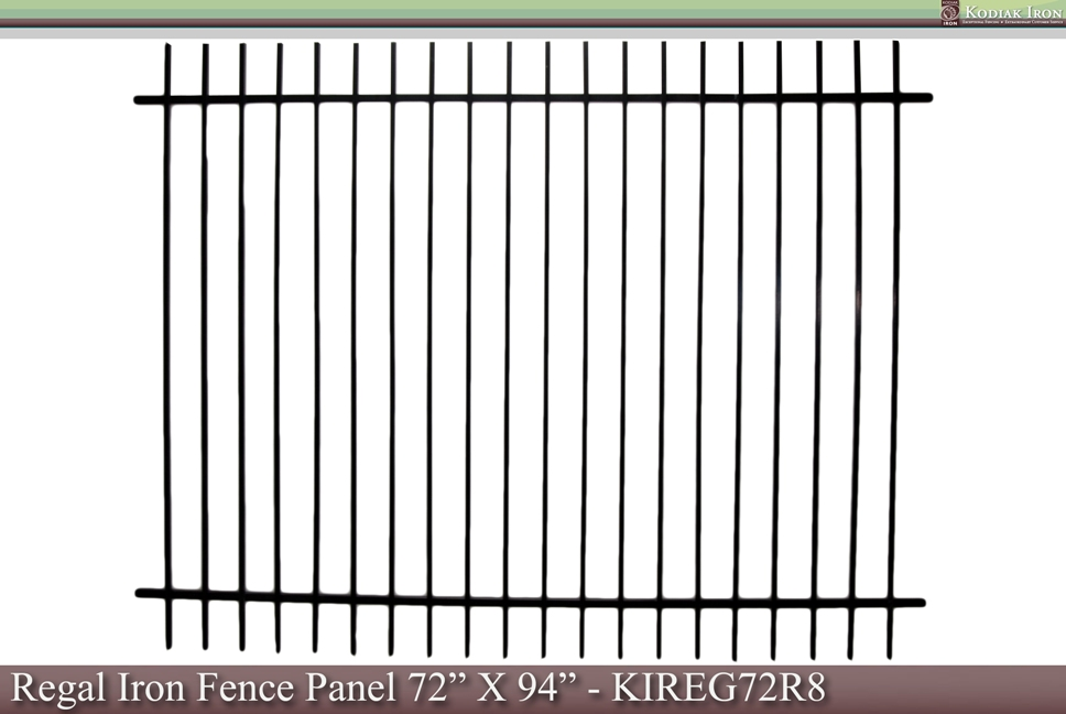 Kodiak Iron - Galvanized Iron Fence Panel - Denali